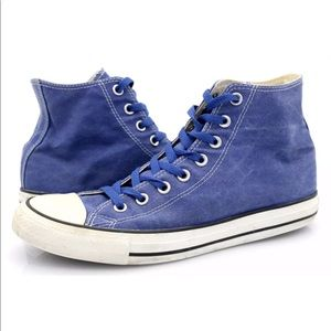 Converse Mens Blue All Star CTAS Hi Sneaker Shoes